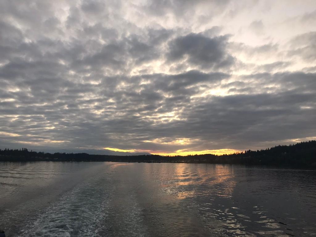 sunset, WA, Kingston, Ferry