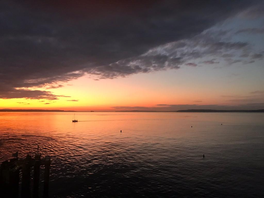 sunset, WA, west coast, ferry, natural art